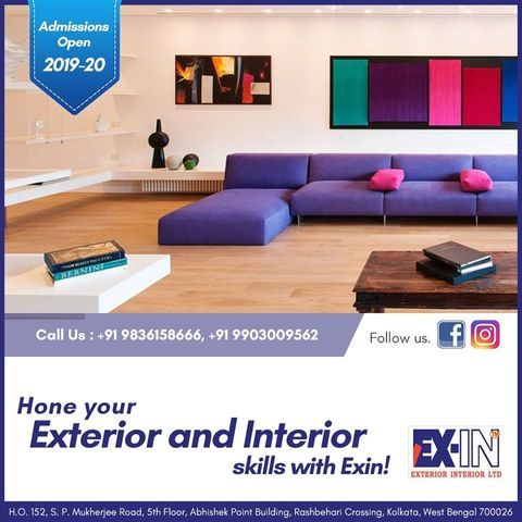 Exin Is The Best Interior Designing Institute In Kolkata Many Diploma Or Graduation Courses On Des Interior Design Courses Interior Design Interior Decorating