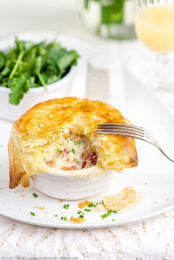 Lobster Pot Pies With Puff Pastry Crust - utterly delicious and really easy to throw together.