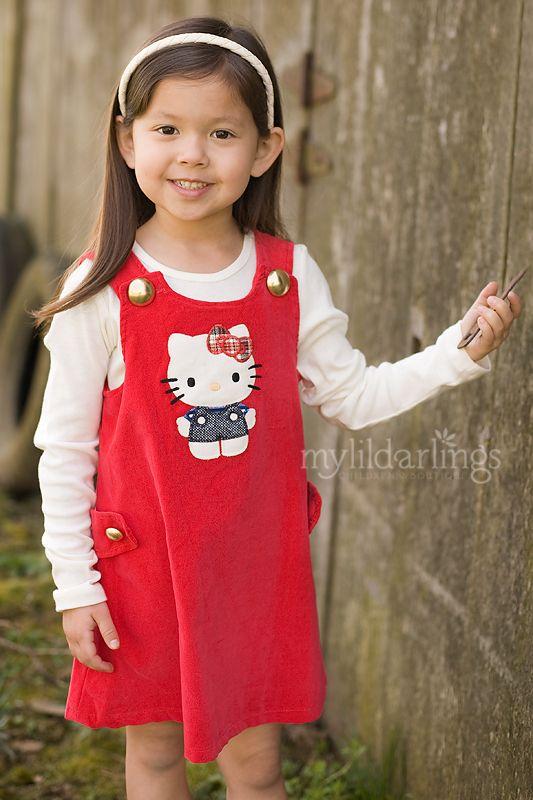 Misha Lulu RETRO MODERN Hello Kitty Red Jumper Dress