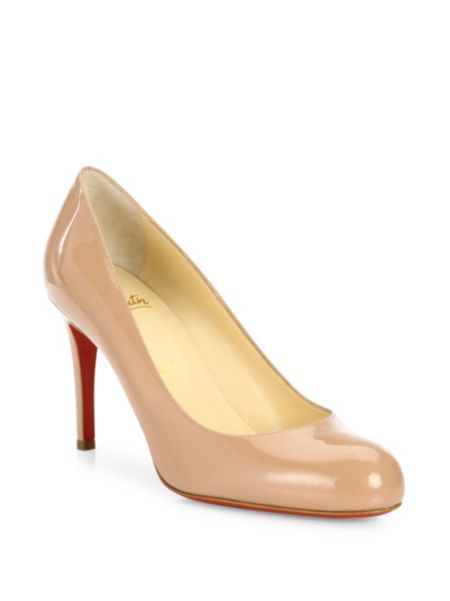 Christian Louboutin - Simple Patent Leather Pumps
