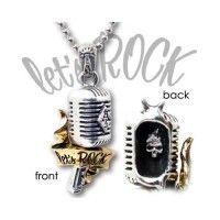 Lets Rock Pewter Necklace