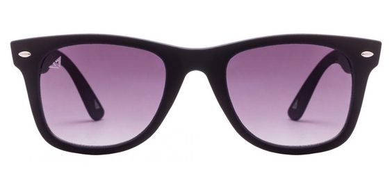 Vincent Chase Nomades VC 5147 Matte Black Blue Grey Gradient C4 Wayfarer Sunglasses