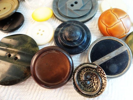 Ode to Random 19 Vintage and Antique Buttons by AddVintage on Etsy, $6.00