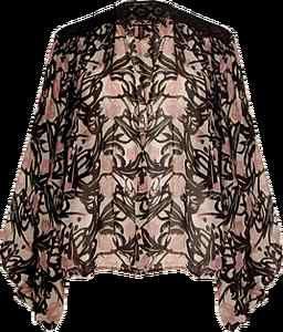 WINTER KATE 'FLYING FOX' Silk Chiffon Bed Jacket