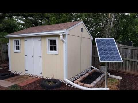 Solar Power Tool Shed Set Up Youtube Shed Tool Sheds 12 Volt Solar Panels