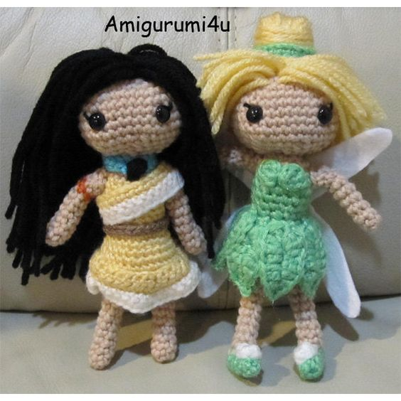 Amigurumi Disney Princess : Crochet dolls, Amigurumi and Disney princess on Pinterest