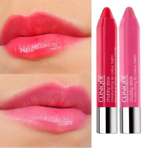 Swatches from Clinique Chubby Sticks 1. Chunky Cherry 2 ...