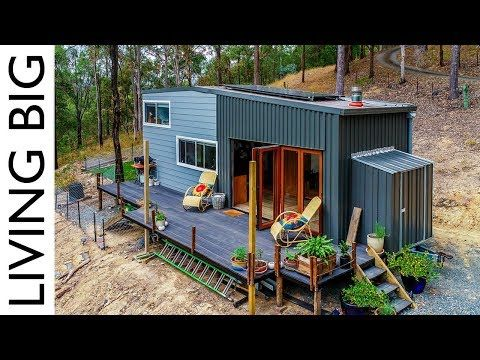 Spacious Diy Off The Grid Tiny House Youtube Look At Their