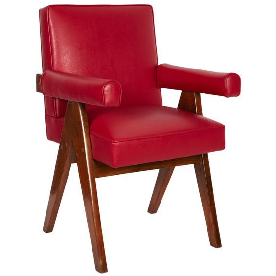Pierre Jeanneret, Senat Chair, Ca. 1955 | From a unique collection of antique and modern armchairs at http://www.1stdibs.com/furniture/seating/armchairs/