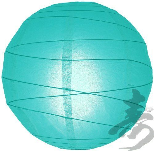 """16"""" Water Blue Irregular Paper Lanterns - (10 Pack) by Asian Import Store, Inc.. $21.30. Dimensions: 16"""" dia. Water Blue round paper lanterns with an irregular bamboo ribbing and is held open with a wire expander.. (All lanterns sold without lighting, lighting options must be purchased separately). Each pack includes 10 x Paper Lanterns. Round paper lantern with a irregular bamboo ribbing. Lantern is held open with a wire expander.  Dimensions: 16"""" dia  (All lante..."""