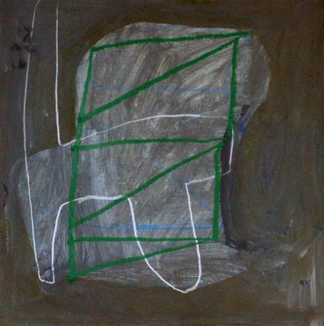 """Brian Coleman, """"Chair Details #3"""", Mixed Media on Paper, 12x12 - Anne Irwin Fine Art"""