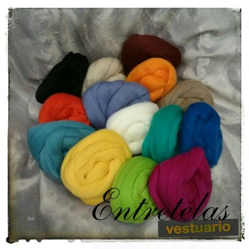 Vellón de lana, bonitos colorines.