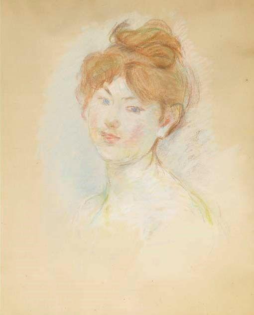 Berthe Morisot - Tête de jeune fille rousse (Jeanne-Marie) 1888 | Filles  rousses, Marie, Impressionnisme