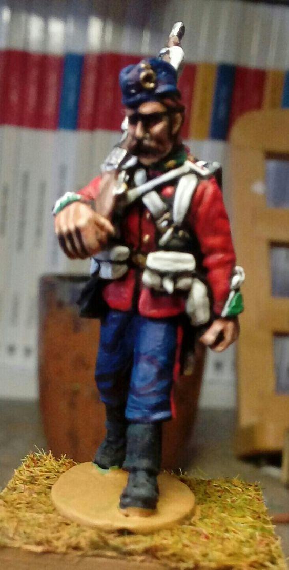 Fante inglese  24 Reggimento -guerra anglo zulù 1879. 28mm dipinto da Taddei P.M.