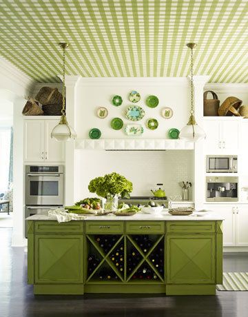 #Gingham kitchen ceilings <3: