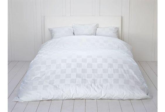 Fischbacher Bettbezug 339 Carre weiß 10 Decken 135 x 200 cm - Wohnen
