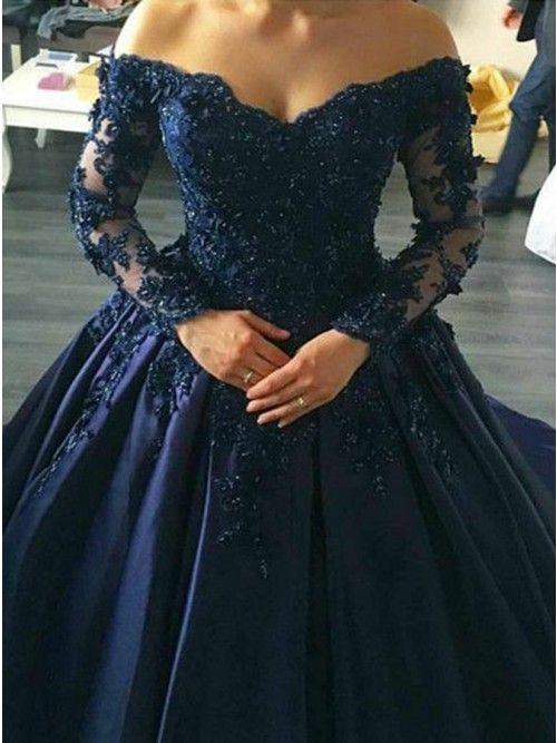 2021 Prom Dresses Online Shopping Homecoming Dresses Store Occasion Dresses Sevenprom Com Dark Blue Prom Dresses Prom Dresses Ball Gown Prom Dresses Blue