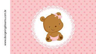 Kit Festa Pronta Ursinha Baby grátis para imprimir - Cantinho do blog Layouts e Templates para Blogger