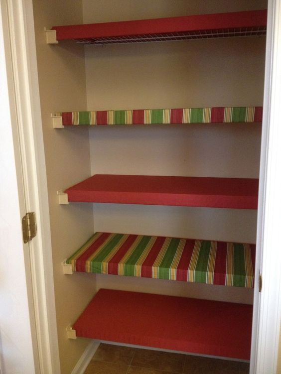 Closet Organized Closets And Shelf Liners On Pinterest