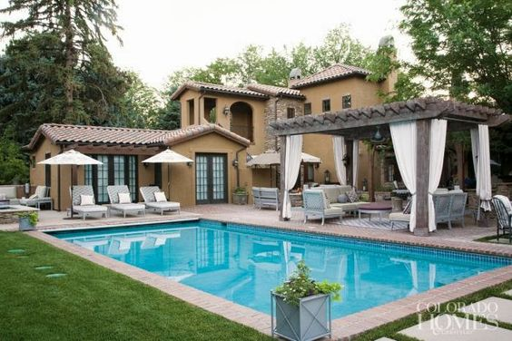 Beautiful House With Swimming Pool House Big House Love Exterior House Exterior Pinterest