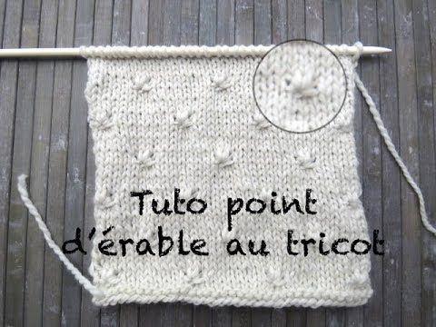 Tuto Point Erable Au Tricot Stitch Knitting Punto Dos Agujas