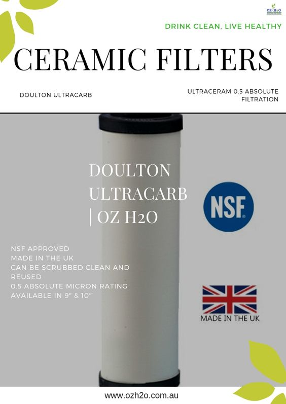 Ozh2o Best Filters Doulton Ultracarb Ceramic Water Filter Ceramic Water Filter Water Filter Filters