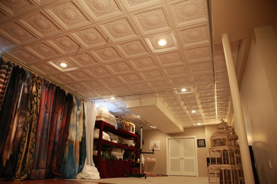 ceiling tiles basement ceilings and ceilings on pinterest. Black Bedroom Furniture Sets. Home Design Ideas