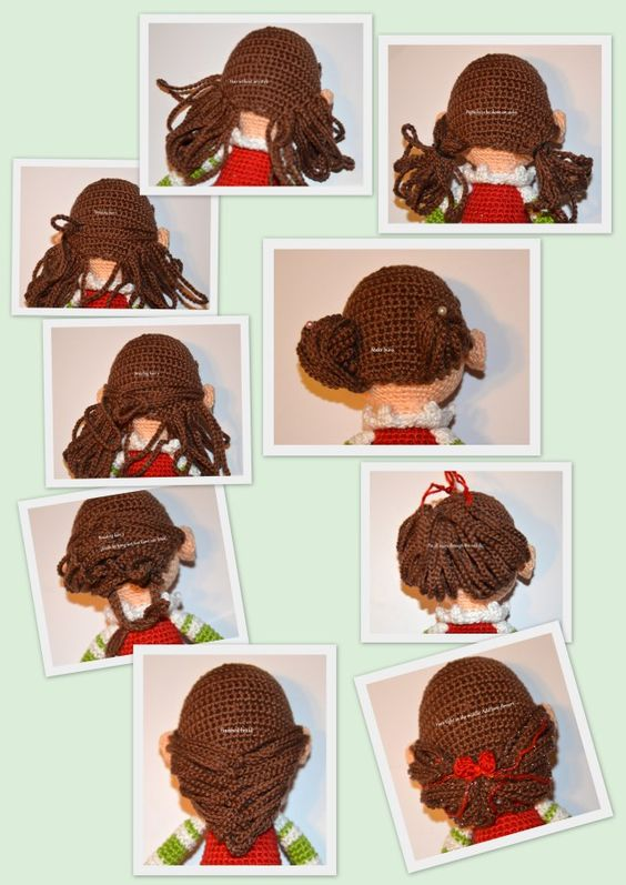 Amigurumi Curly Hair Tutorial : Elfen, Weihnachtself and Haare Madchen on Pinterest