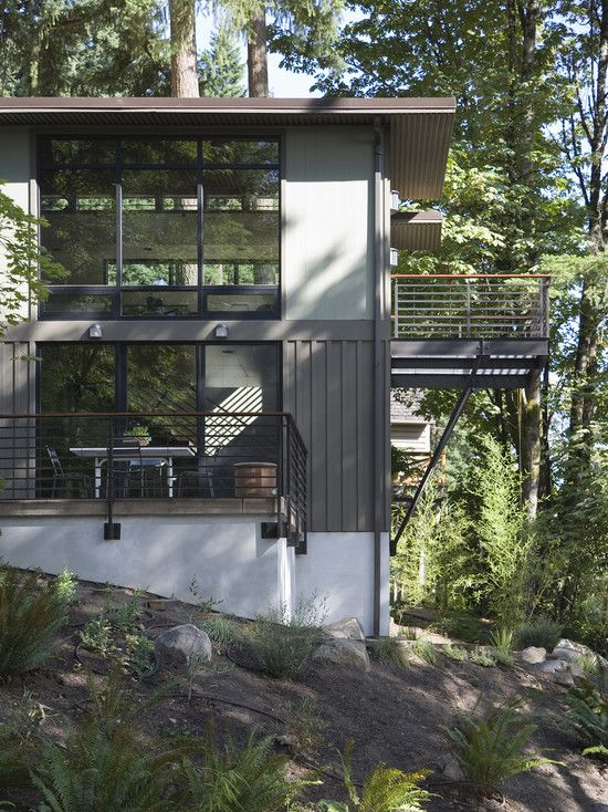 Stucco Exterior Modern And Board And Batten On Pinterest