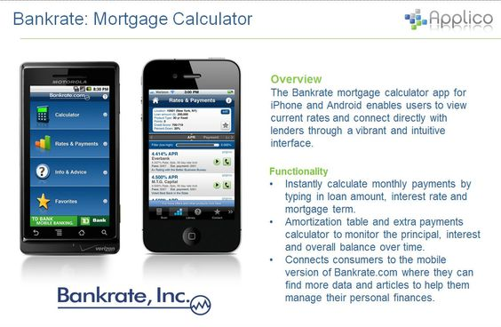 Check Out BankrateS Android And Ios App  Applico Portfolio