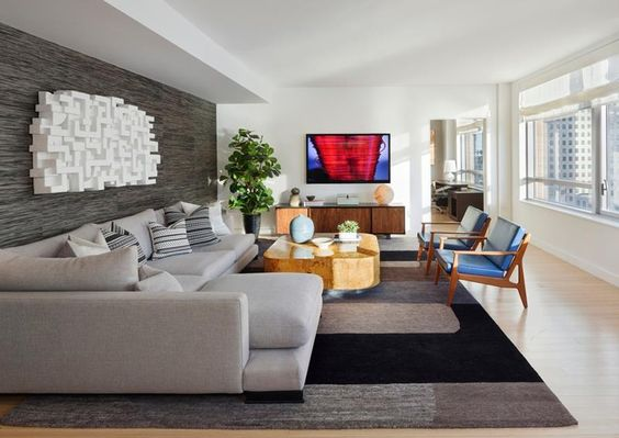 24 Gorgeous Living Rooms With Accent Walls Home Epiphany Salon Pinterest Room And