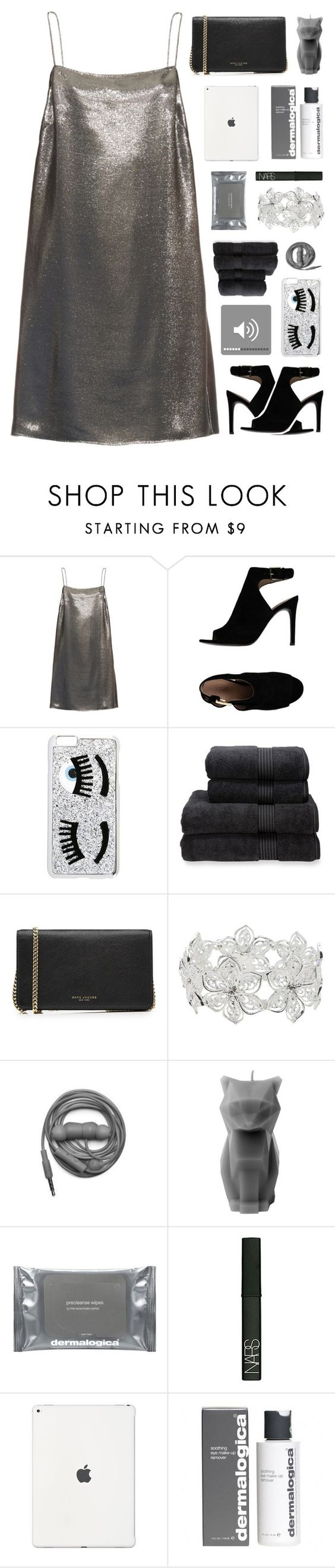 """Call me on my cell phone"" by tiaranurindaa ❤ liked on Polyvore featuring Yves Saint Laurent, Tory Burch, Chiara Ferragni, Christy, Marc Jacobs, M&Co, Urbanears, PyroPet, Dermalogica and NARS Cosmetics"