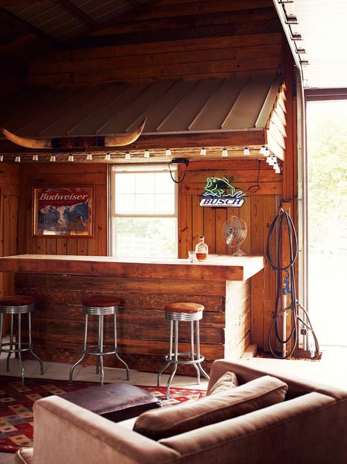 Western Man Cave Ideas : Western bar oh my gonna do this under the back deck
