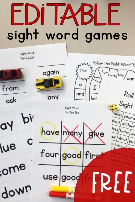 FREE Sight Word Educational Games for Homeschool   Reading ...