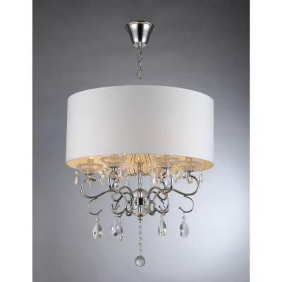 Home Depot Warehouse Of Tiffany Camilla 6 Light Chrome Crystal Chandelier