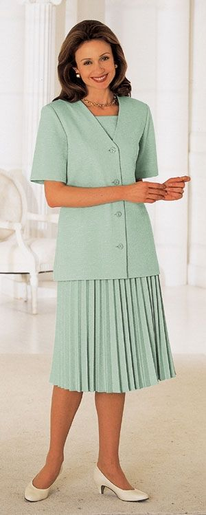 Church Skirt Suits with pleated skirts for Women  Two piece ...