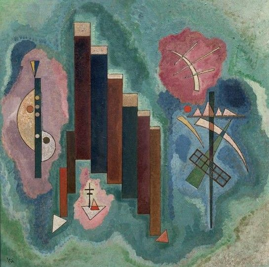Painter Wassily Kandinsky. Painting. Downwards. 1929 year
