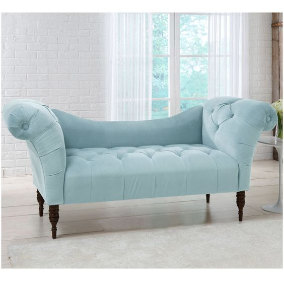 When i grow up i would love this velvet pool chaise for Bay window chaise lounge