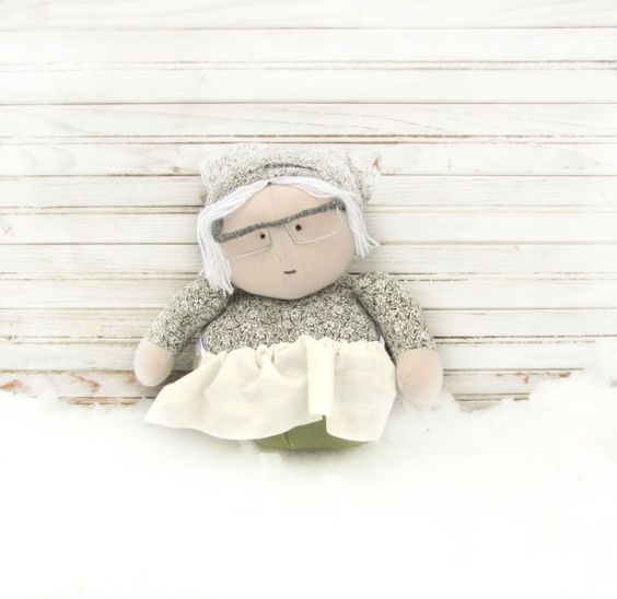 hand made doll Rag Doll Art Doll funny doll Home by AnnaDesigner, $38.00