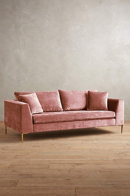 Velvet Sofas And Anthropologie On Pinterest