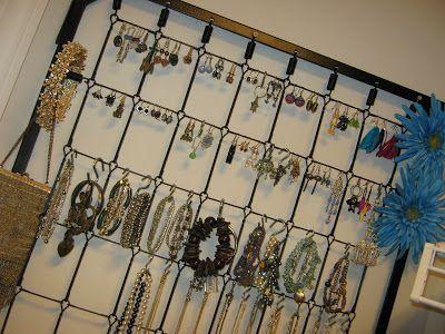 Fake-It Frugal: Crib Spring Jewelry Organizer