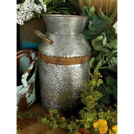 Home Milk Cans Old Milk Cans Galvanized Metal