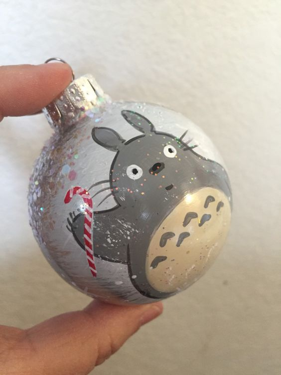 A personal favorite from my Etsy shop https://www.etsy.com/listing/260176164/totoro-handpainted-ornament: