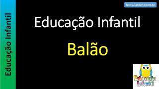 Educação Infantil - Nível 5 (crianças entre 8 a 10 anos): Balão