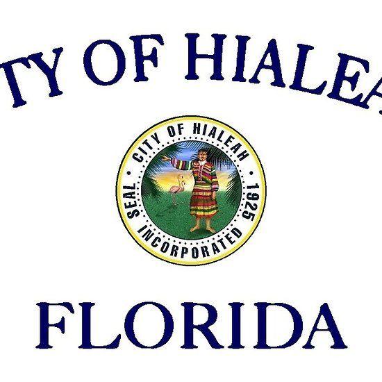 City Of Hialeah Flag Florida Hialeah Ciudaddelprogreso Hialeah Florida Hardcover Notebook