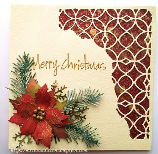 Tim holtz die cut and poinsettia