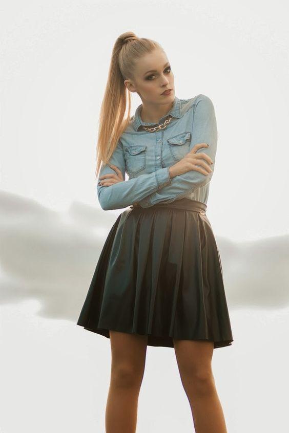 pics Mateusz Kłosowski   skirt Preska  | shirt Denimbox | coat Zara | bag, necklace House
