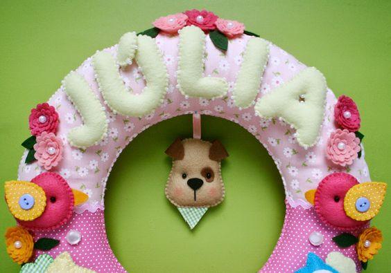 Guirlanda para porta de maternidade da Júlia =)