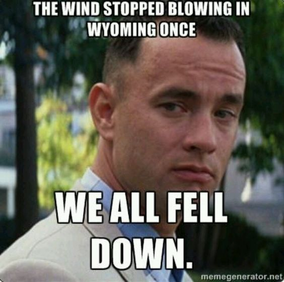 Gotta love Wyoming wind!  If it was blowing you go crazy