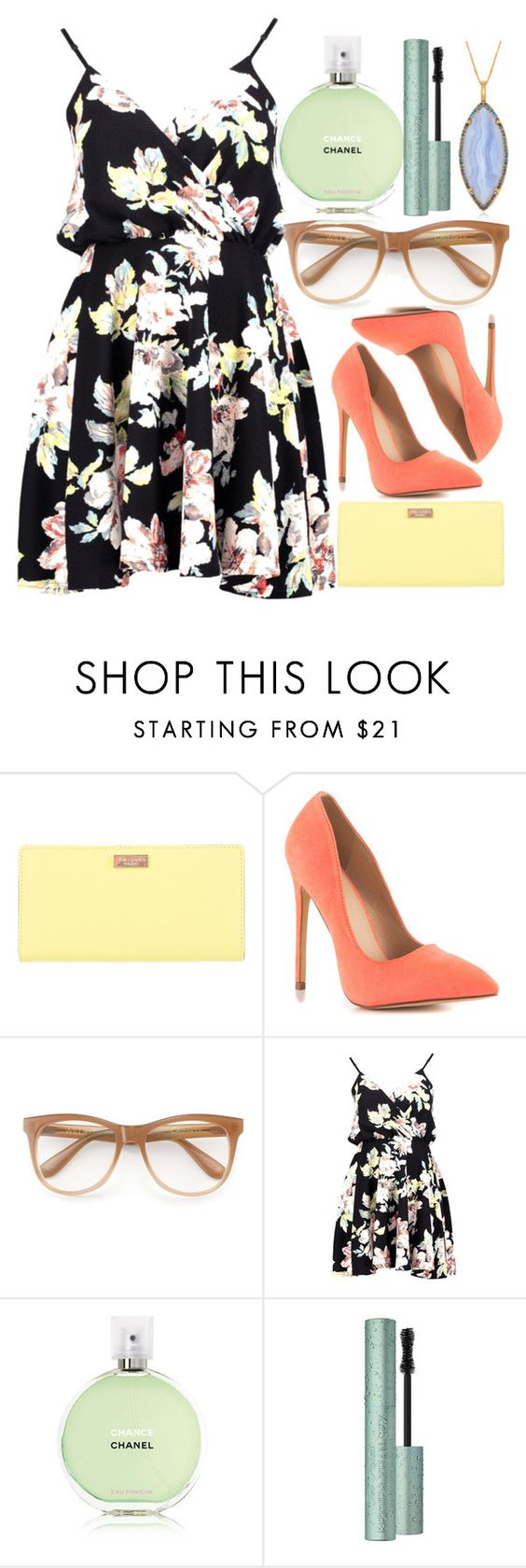 """""""Outside Fun"""" by egordon2 ❤ liked on Polyvore featuring Kate Spade, Liliana, Wildfox, Boohoo, Chanel, Too Faced Cosmetics, Alexandra Alberta, bordeaux, yoins and yoinscollection"""